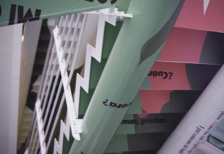 NTT docomo, Sapporo office, stairs #2, 1996